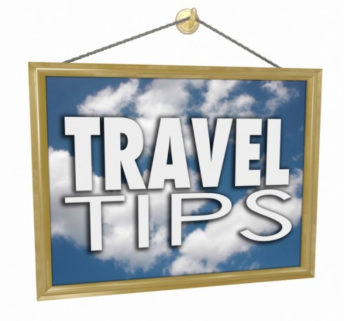 Beware and follow the travel tips; hanging banner